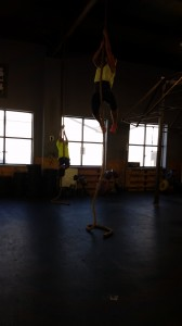 mother / son rope climbs after class